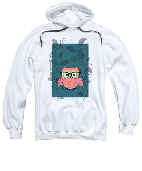 Cute Wild Life Hipster Owl. Sweatshirt