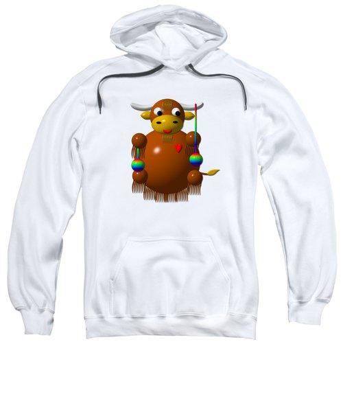 Cute Yak With Yo Yos Sweatshirt