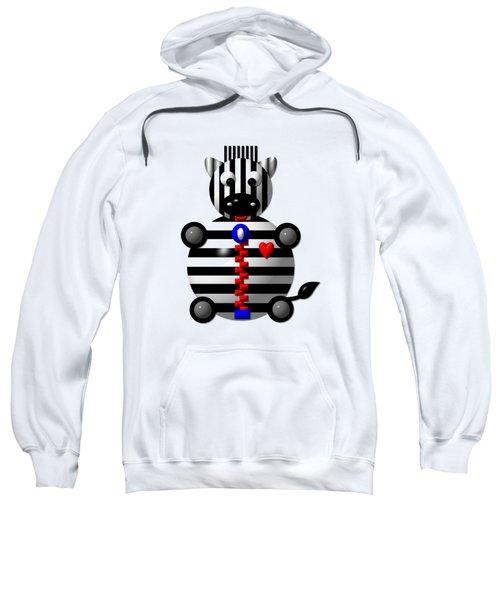 Cute Zebra With A Zipper Sweatshirt