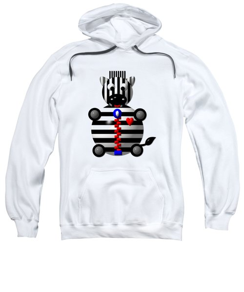 Cute Zebra With A Zipper Sweatshirt
