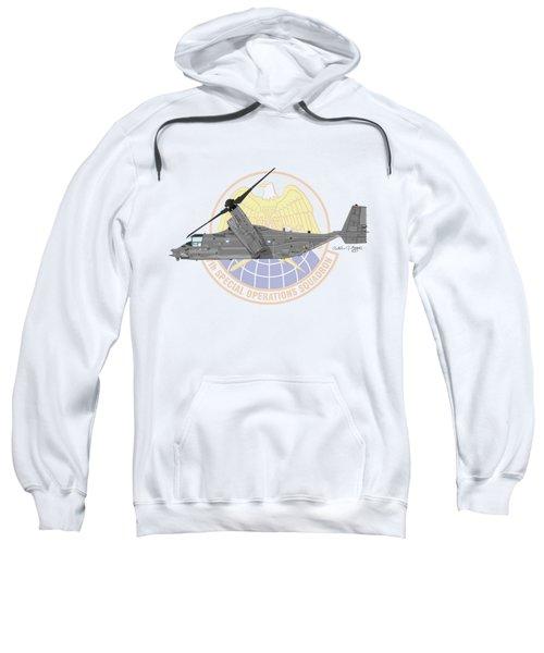 Cv-22b Osprey 7sos Sweatshirt by Arthur Eggers