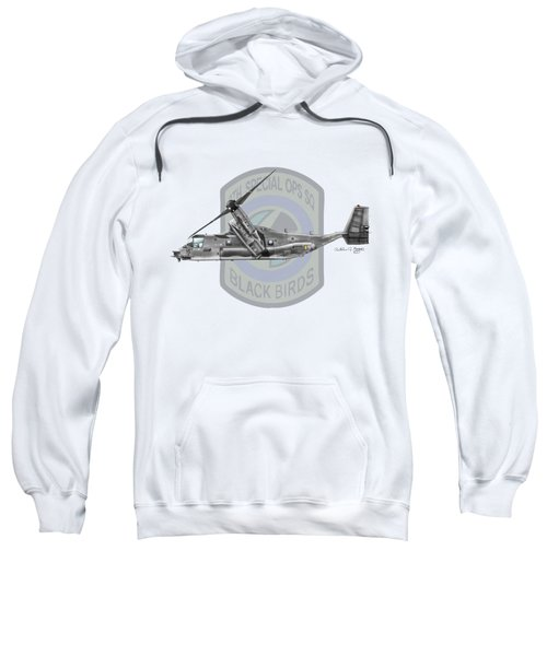 Cv-22b Osprey 8sos Sweatshirt by Arthur Eggers