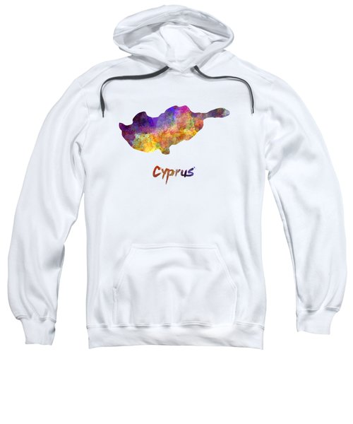 Cyprus In Watercolor Sweatshirt