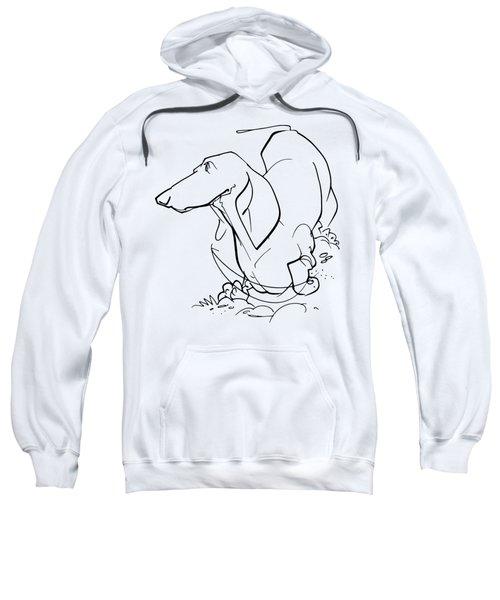 Dachshund Gesture Sketch Sweatshirt