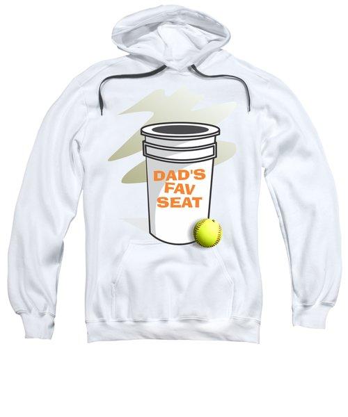 Dad's Fav Seat Sweatshirt by Jerry Watkins