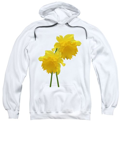 Daffodils On White Sweatshirt