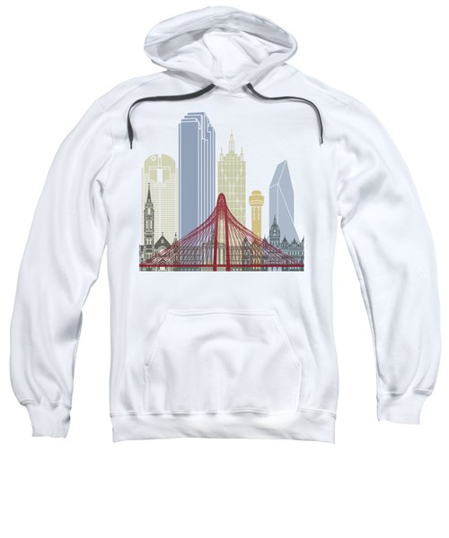 Dallas Skyline Poster Sweatshirt