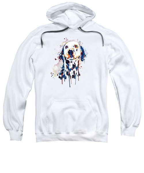 Dalmatian Head Sweatshirt by Marian Voicu