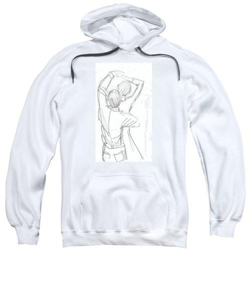 Dancing Couple Pencil Sketch Sweatshirt