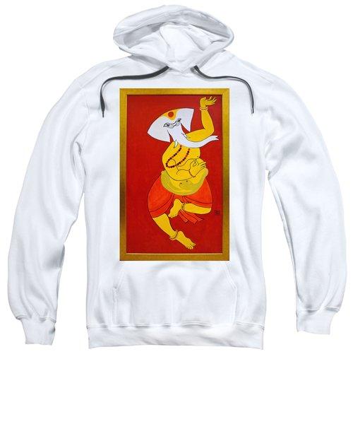 Sweatshirt featuring the painting Dancing Ganesha by Guruji Aruneshvar Paris Art Curator Katrin Suter