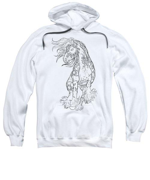 Dancing Gypsy Horse Zentangle Sweatshirt