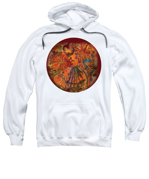 Sweatshirt featuring the painting Dancing Shiva by Guruji Aruneshvar Paris Art Curator Katrin Suter
