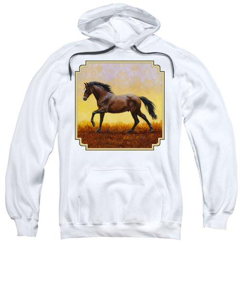 Dark Bay Running Horse Yellow Sweatshirt