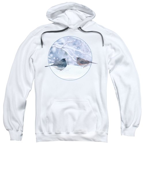 Dark-eyed-juncos In Snow Sweatshirt