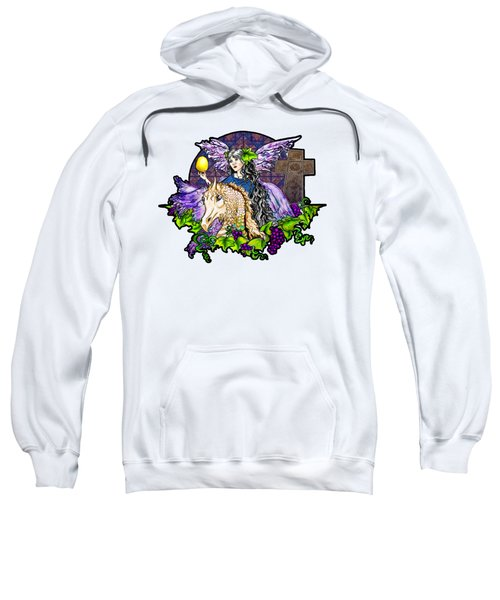 Dark Tales Of Fairy Eve And The Dragons Of Eden Sweatshirt by Janice Moore