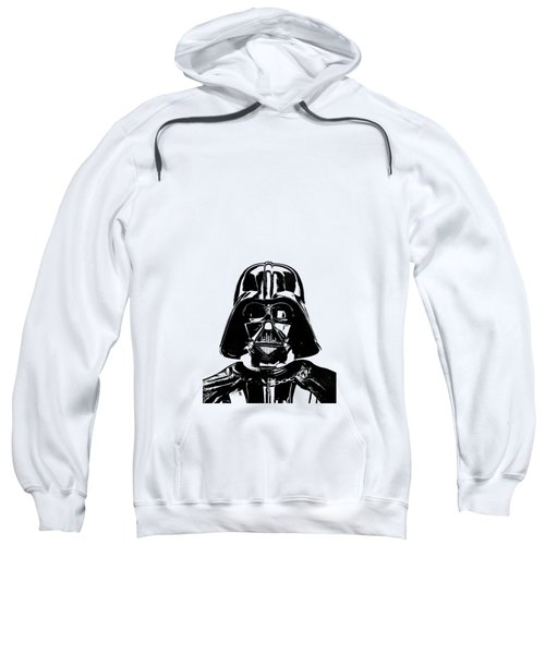 Sweatshirt featuring the photograph Darth Vader Painting by Edward Fielding