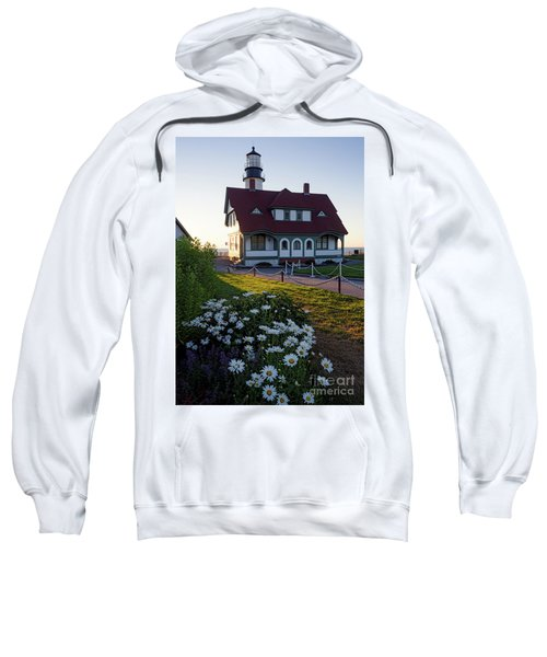 Dawn At Portland Head Light, Cape Elizabeth, Maine  -08614 Sweatshirt