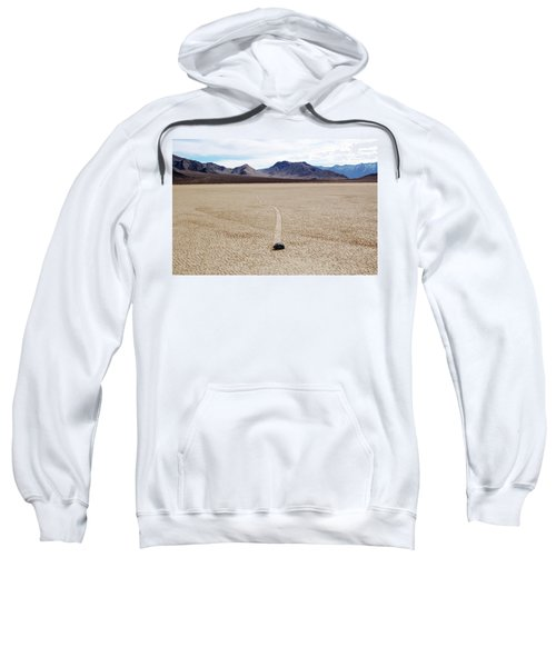 Sweatshirt featuring the photograph Death Valley Racetrack by Breck Bartholomew