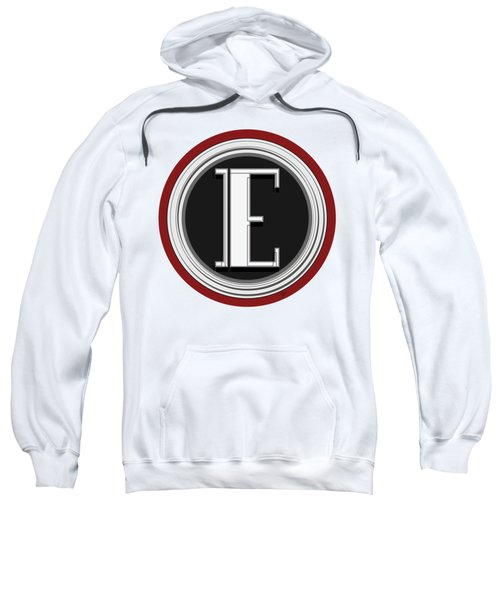 Deco Cafe Marquee  Monogram  Letter E Sweatshirt