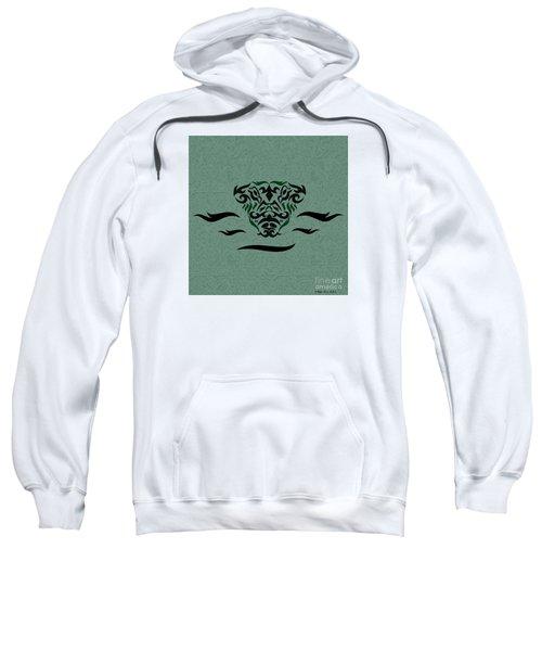 Deep Green Tribal Gator Sweatshirt