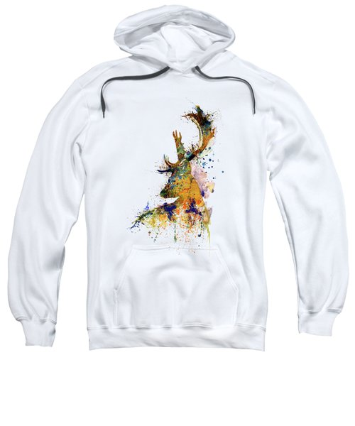Deer Head Watercolor Silhouette Sweatshirt