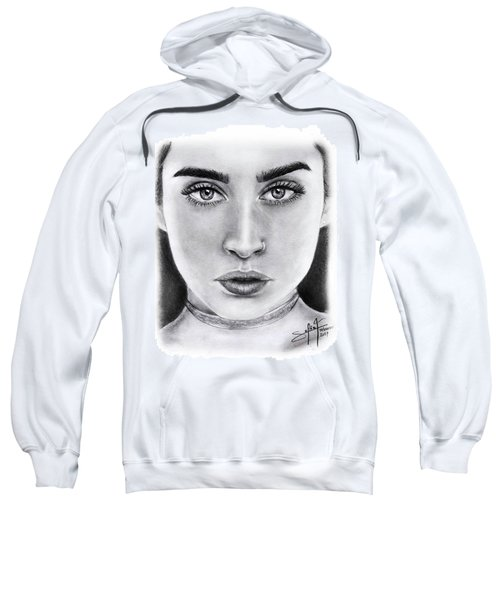 Lauren Jauregui Drawing By Sofia Furniel  Sweatshirt