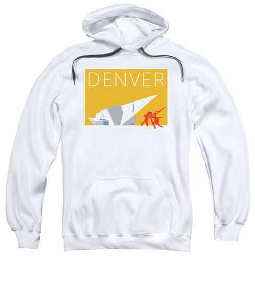 Sweatshirt featuring the digital art Denver Art Museum/gold by Sam Brennan