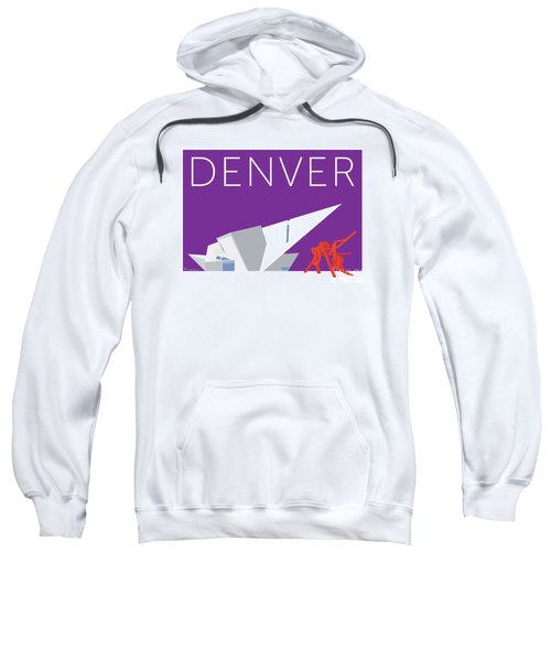 Sweatshirt featuring the digital art Denver Art Museum/purple by Sam Brennan