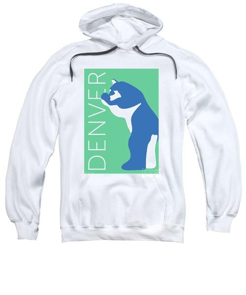 Denver Blue Bear/aqua Sweatshirt