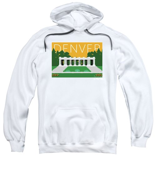 Sweatshirt featuring the digital art Denver Cheesman Park/gold by Sam Brennan