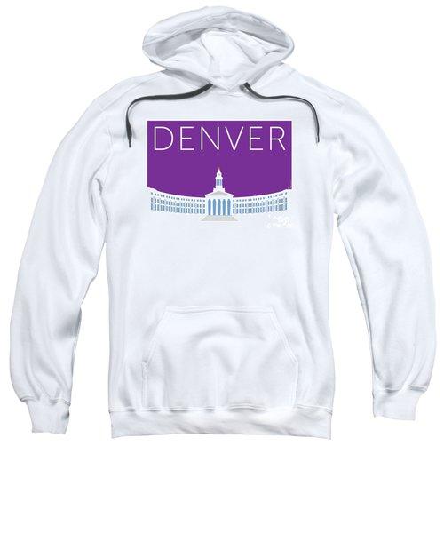 Sweatshirt featuring the digital art Denver City And County Bldg/purple by Sam Brennan