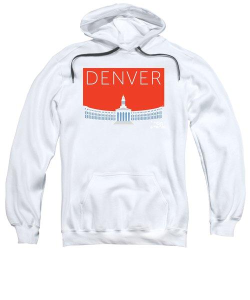 Sweatshirt featuring the digital art Denver City And County Bldg/orange by Sam Brennan