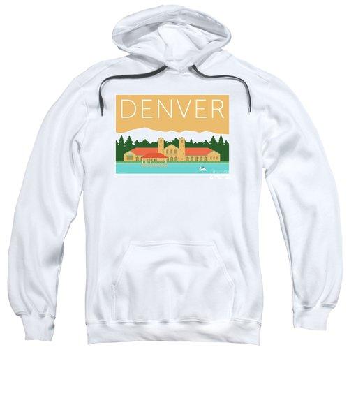 Sweatshirt featuring the digital art Denver City Park/adobe by Sam Brennan