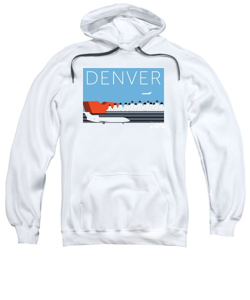 Sweatshirt featuring the digital art Denver Dia/blue by Sam Brennan