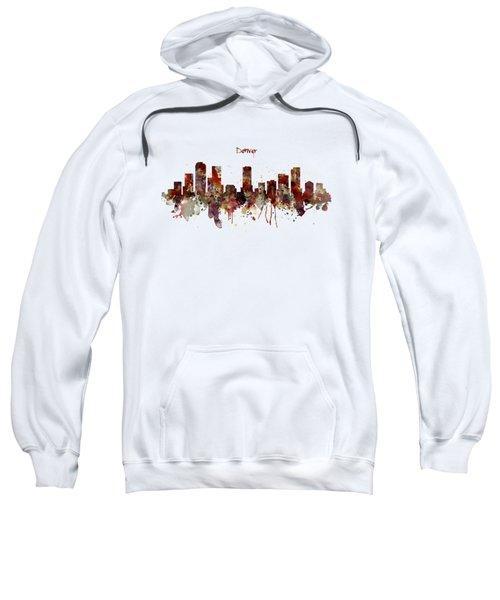 Denver Skyline Silhouette Sweatshirt by Marian Voicu