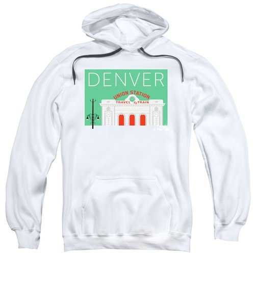Denver Union Station/aqua Sweatshirt