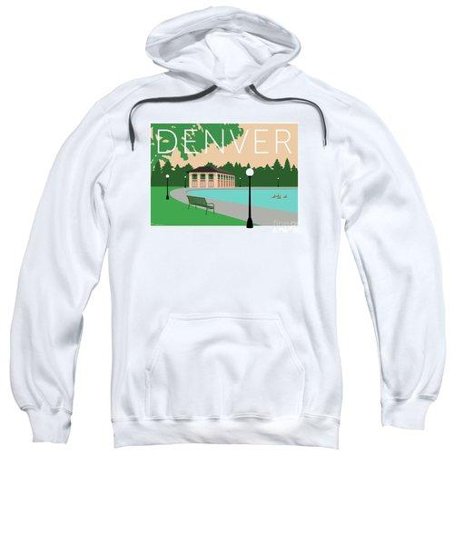 Sweatshirt featuring the digital art Denver Washington Park/beige by Sam Brennan