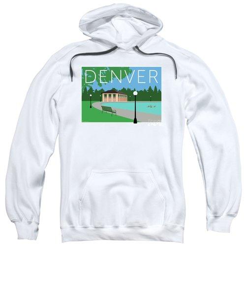 Sweatshirt featuring the digital art Denver Washington Park/blue by Sam Brennan