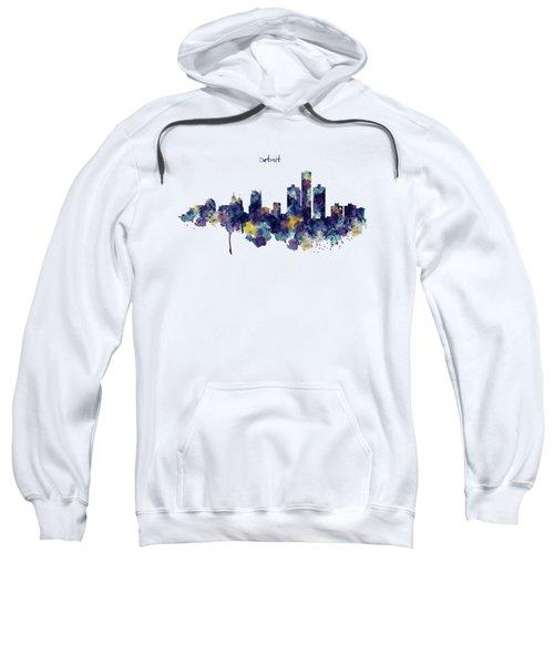 Detroit Skyline Silhouette Sweatshirt