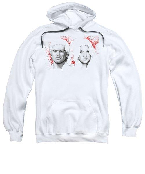 Dexter And Debra Morgan Sweatshirt by Olga Shvartsur
