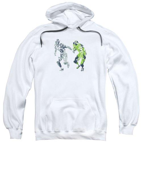 Dez Bryant Richard Sherman Cowboys Seahawks Pixel Art 1 Sweatshirt