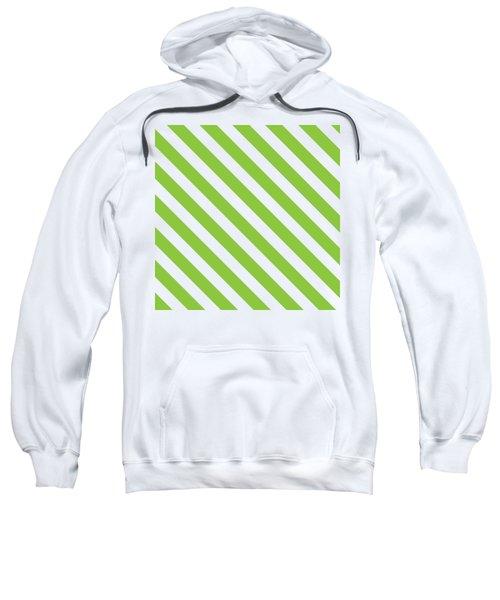 Diagonal Green Stripes Sweatshirt