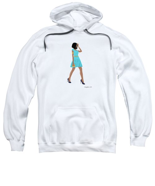 Sweatshirt featuring the digital art Dima by Nancy Levan