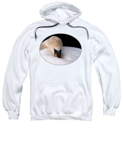 Do Not Disturb - Swan On Nest Sweatshirt by Gill Billington