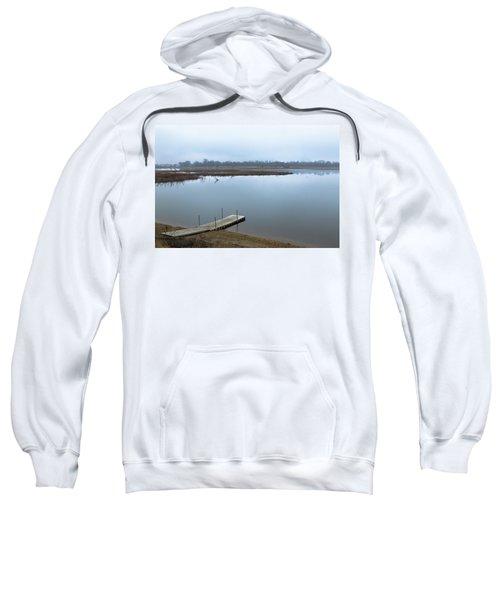 Dock On A Serene Lake Sweatshirt