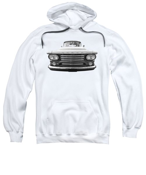 Dodge D100 Sweptside 1958 In Black And White Sweatshirt