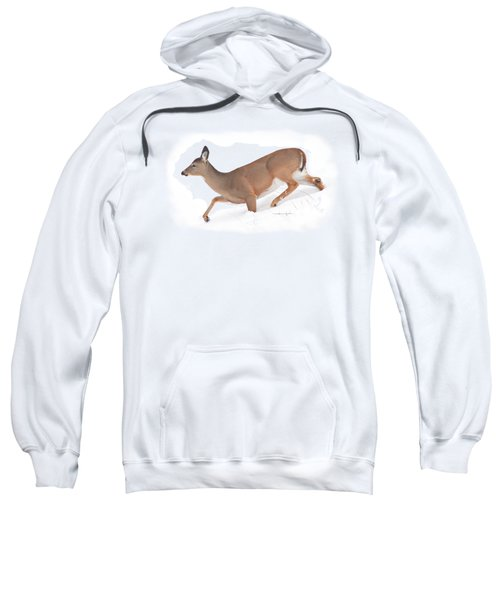 Doe In Deep Snow Sweatshirt