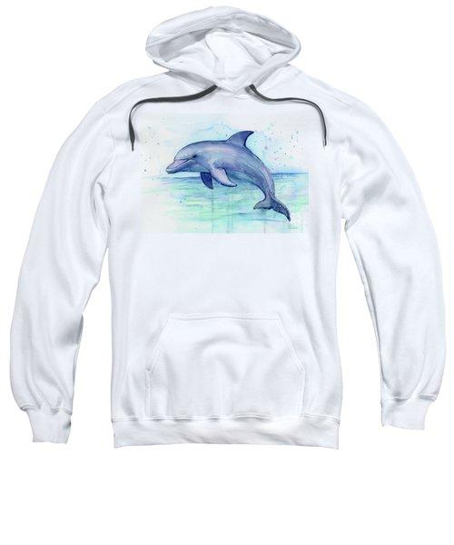 Dolphin Watercolor Sweatshirt