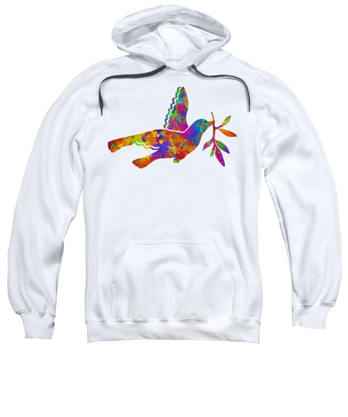 Dove With Olive Branch Sweatshirt by Christina Rollo