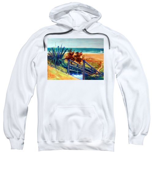 Down The Stairs To The Beach Sweatshirt by Winsome Gunning